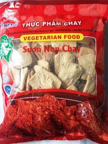 thực phẩm chay SƯỜN NON SFI CHAY SUON NON CHAY thực phẩm chay CHAY LẠC VIỆT SUON NON CHAY