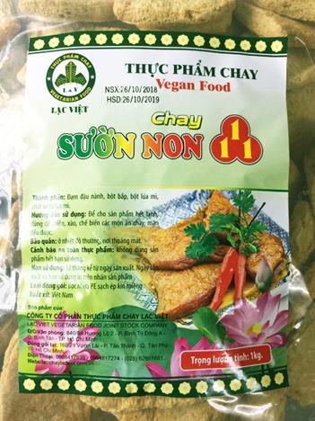 sƯỜn non 111 SƯỜN NON 111 SUON NON thực phẩm chay CHAY LẠC VIỆT SUON NON